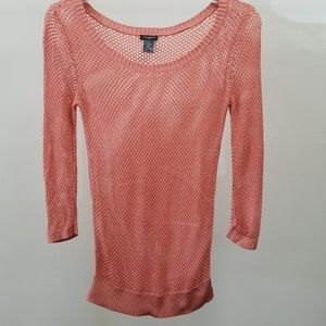 Ann Taylor mesh 3/4 sleeve top